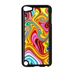 Rainbow Gnarls Apple Ipod Touch 5 Case (black) by WolfepawFractals