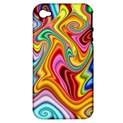 Rainbow Gnarls Apple Iphone 4/4s Hardshell Case (pc+silicone) by WolfepawFractals