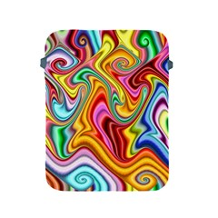 Rainbow Gnarls Apple Ipad 2/3/4 Protective Soft Cases by WolfepawFractals