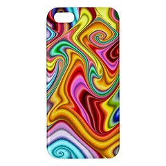 Rainbow Gnarls Iphone 5s/ Se Premium Hardshell Case by WolfepawFractals