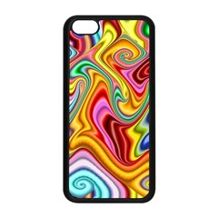 Rainbow Gnarls Apple Iphone 5c Seamless Case (black) by WolfepawFractals