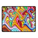 Rainbow Gnarls Double Sided Fleece Blanket (Small)  45 x34 Blanket Front