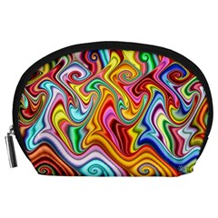 Rainbow Gnarls Accessory Pouches (large)  by WolfepawFractals