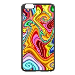 Rainbow Gnarls Apple Iphone 6 Plus/6s Plus Black Enamel Case by WolfepawFractals