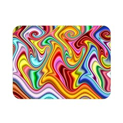 Rainbow Gnarls Double Sided Flano Blanket (mini)  by WolfepawFractals