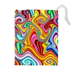 Rainbow Gnarls Drawstring Pouches (extra Large) by WolfepawFractals