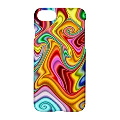 Rainbow Gnarls Apple Iphone 7 Hardshell Case by WolfepawFractals