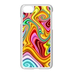 Rainbow Gnarls Apple Iphone 7 Seamless Case (white) by WolfepawFractals