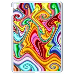 Rainbow Gnarls Apple Ipad Pro 9 7   White Seamless Case by WolfepawFractals