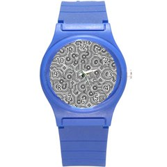 Broken Pattern F Round Plastic Sport Watch (s) by MoreColorsinLife