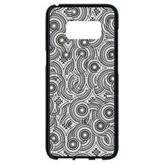 Broken Pattern F Samsung Galaxy S8 Black Seamless Case