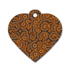 Broken Pattern A Dog Tag Heart (one Side) by MoreColorsinLife