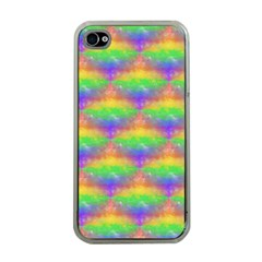 Painted Rainbow Pattern Apple Iphone 4 Case (clear) by Brini