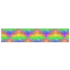 Painted Rainbow Pattern Flano Scarf (small) by Brini
