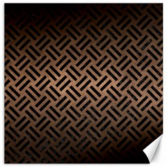 Woven2 Black Marble & Bronze Metal (r) Canvas 16  X 16  by trendistuff