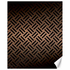 Woven2 Black Marble & Bronze Metal (r) Canvas 16  X 20