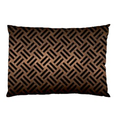 Woven2 Black Marble & Bronze Metal (r) Pillow Case by trendistuff