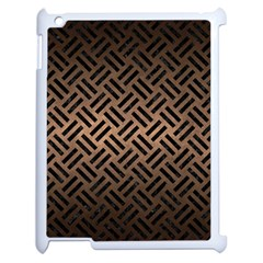 Woven2 Black Marble & Bronze Metal (r) Apple Ipad 2 Case (white) by trendistuff