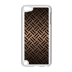 Woven2 Black Marble & Bronze Metal (r) Apple Ipod Touch 5 Case (white) by trendistuff