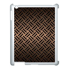 Woven2 Black Marble & Bronze Metal (r) Apple Ipad 3/4 Case (white) by trendistuff