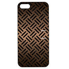 Woven2 Black Marble & Bronze Metal (r) Apple Iphone 5 Hardshell Case With Stand by trendistuff