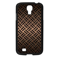 Woven2 Black Marble & Bronze Metal (r) Samsung Galaxy S4 I9500/ I9505 Case (black) by trendistuff