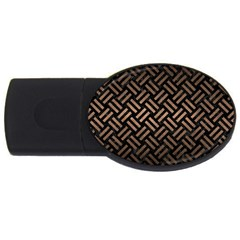 Woven2 Black Marble & Bronze Metal Usb Flash Drive Oval (2 Gb) by trendistuff