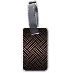 Woven2 Black Marble & Bronze Metal Luggage Tag (one Side) by trendistuff
