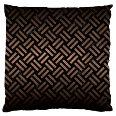 Woven2 Black Marble & Bronze Metal Large Cushion Case (two Sides) by trendistuff