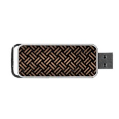 Woven2 Black Marble & Bronze Metal Portable Usb Flash (one Side) by trendistuff