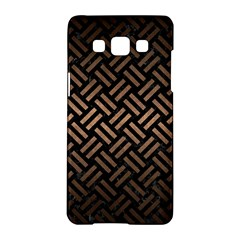 Woven2 Black Marble & Bronze Metal Samsung Galaxy A5 Hardshell Case  by trendistuff