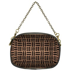 Woven1 Black Marble & Bronze Metal (r) Chain Purse (one Side) by trendistuff