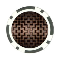 Woven1 Black Marble & Bronze Metal (r) Poker Chip Card Guard (10 Pack) by trendistuff