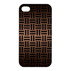 Woven1 Black Marble & Bronze Metal (r) Apple Iphone 4/4s Hardshell Case by trendistuff