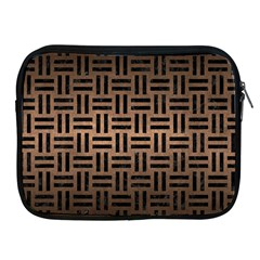 Woven1 Black Marble & Bronze Metal (r) Apple Ipad Zipper Case by trendistuff