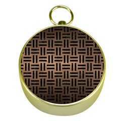 Woven1 Black Marble & Bronze Metal (r) Gold Compass by trendistuff