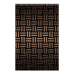 Woven1 Black Marble & Bronze Metal Shower Curtain 48  X 72  (small) by trendistuff