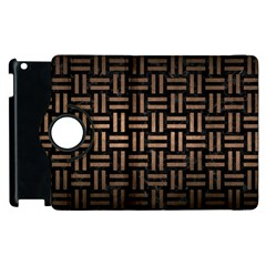 Woven1 Black Marble & Bronze Metal Apple Ipad 2 Flip 360 Case by trendistuff