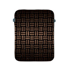 Woven1 Black Marble & Bronze Metal Apple Ipad 2/3/4 Protective Soft Case by trendistuff