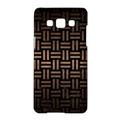 Woven1 Black Marble & Bronze Metal Samsung Galaxy A5 Hardshell Case  by trendistuff