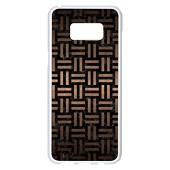 Woven1 Black Marble & Bronze Metal Samsung Galaxy S8 Plus White Seamless Case by trendistuff