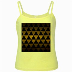 Triangle3 Black Marble & Bronze Metal Yellow Spaghetti Tank by trendistuff