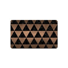 Triangle3 Black Marble & Bronze Metal Magnet (name Card) by trendistuff