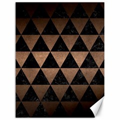 Triangle3 Black Marble & Bronze Metal Canvas 12  X 16  by trendistuff