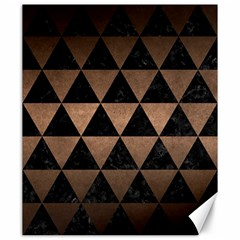 Triangle3 Black Marble & Bronze Metal Canvas 20  X 24  by trendistuff