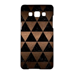 Triangle3 Black Marble & Bronze Metal Samsung Galaxy A5 Hardshell Case  by trendistuff