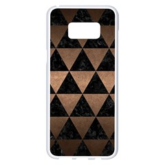 Triangle3 Black Marble & Bronze Metal Samsung Galaxy S8 Plus White Seamless Case by trendistuff