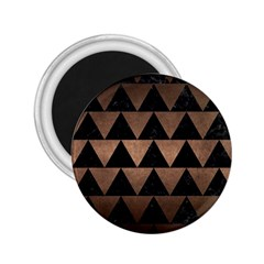 Triangle2 Black Marble & Bronze Metal 2 25  Magnet by trendistuff
