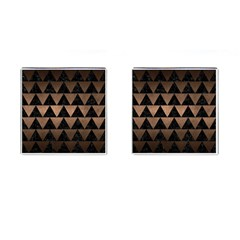 Triangle2 Black Marble & Bronze Metal Cufflinks (square) by trendistuff