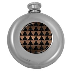 Triangle2 Black Marble & Bronze Metal Hip Flask (5 Oz) by trendistuff